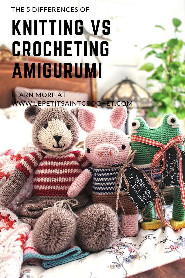 Differences of Knitting vs Crocheting Amigurumi